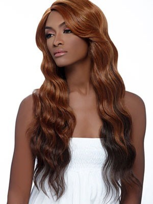 Long Wavy Lace Front Human Hair African American Wig