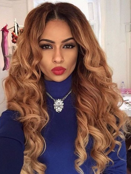 Affordable Lace Front Remy Human Hair Wavy Wig