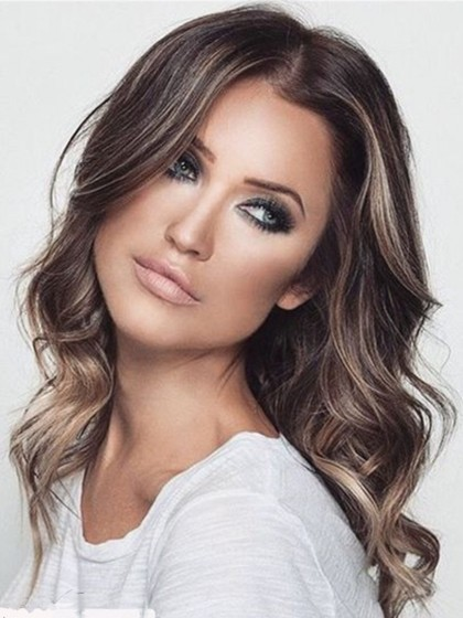 Pretty Lace Front Wavy Remy Human Hair Wig