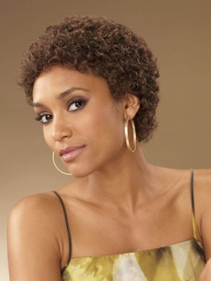 Classic Curly Short Capless African American Wig
