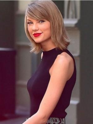 Taylor Swift Glamorous Straight Capless Human Hair Wig