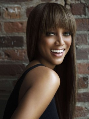 Tyra Banks Stylish Straight Capless Human Hair Wig