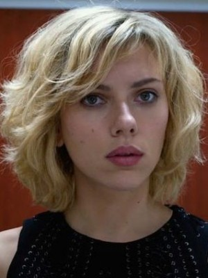 Durable Scarlett Johansson Wavy Lace Front Remy Human Hair Wig