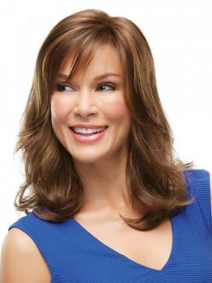 Beautiful Lace Front Remy Human Hair Wavy Wig