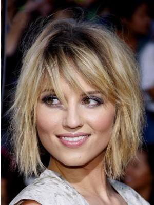 Dazzling Short Straight Capless Human Hair Wigs