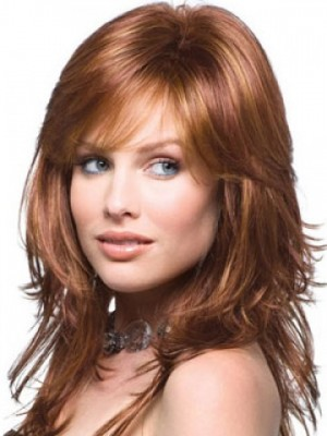 Pleasant Lace Front Human Hair Wavy Wig