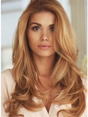 Brilliant Long Wavy Human Hair Full Lace Wig