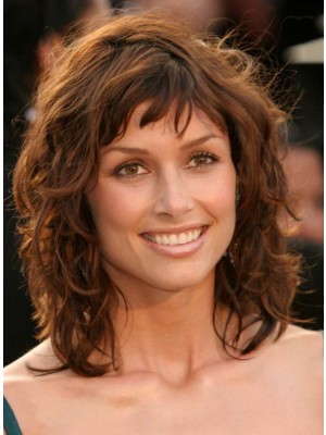Exceptional Layered Wavy Human Hair Capless Wig