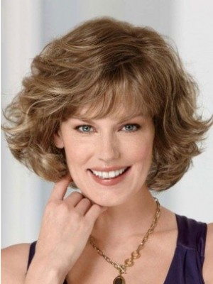 Attractive Human Hair Wavy Capless Wig