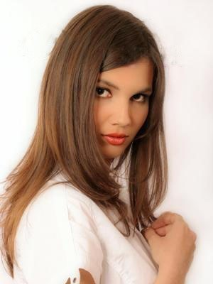 Smooth Lace Front Long Length Straight Human Hair Wig