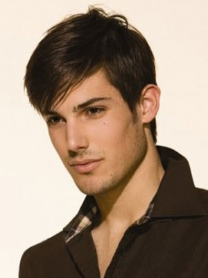 Short Lace Front Remy Human Hair Mens Wig
