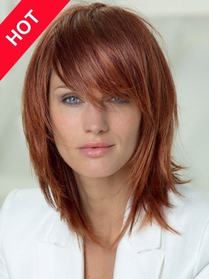 Discount Human Hair Straight Lob Hairstyle Wig