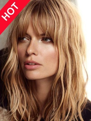 Romantic Discount Human Hair Wavy Wig