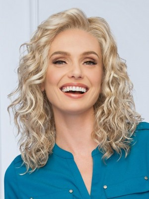 Synthetic Blonde Wavy Wig