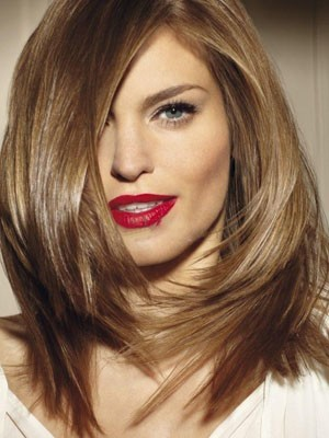 Straight Lace Front Medium Length Synthetic Wig
